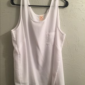 White Tank Top with Pocket
